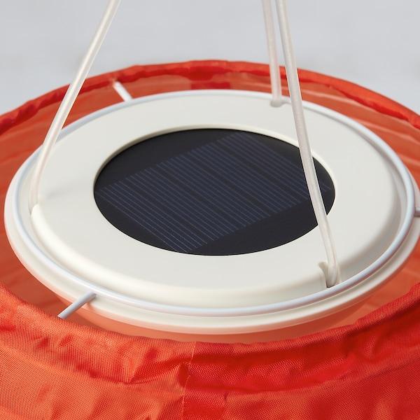 SOLVINDEN Led-plafondlamp op zonnecellen, buiten/globe oranje, 22 cm