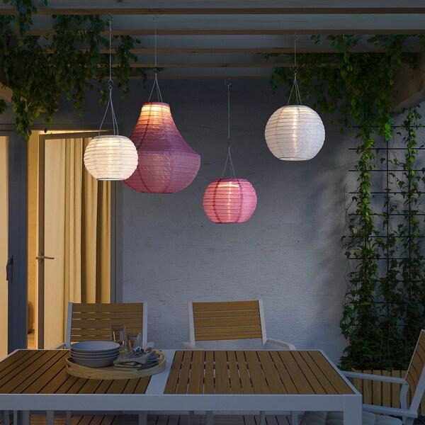 SOLVINDEN led-plafondlamp op zonnecellen buiten/globe roze 2 lumen 22 cm 19 cm 19 cm