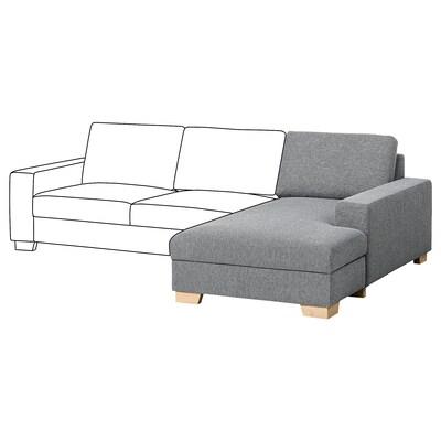 SÖRVALLEN Chaise longue element, rechts/Lejde grijs/zwart