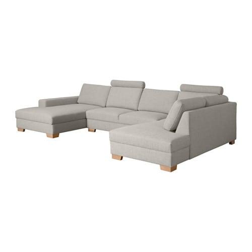 S u00d6RVALLEN Hoekbank met chaise longue links   Ten u00f6 lichtgrijs   IKEA