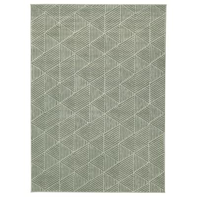 STENLILLE Vloerkleed, laagpolig, groen, 170x240 cm