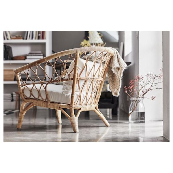 STOCKHOLM 2017 fauteuil met kussen rotan/Sandbacka donkergrijs 87 cm 81 cm 79 cm 60 cm 54 cm 30 cm