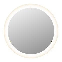 STORJORM spiegel met geïntegreerde verlichting, wit