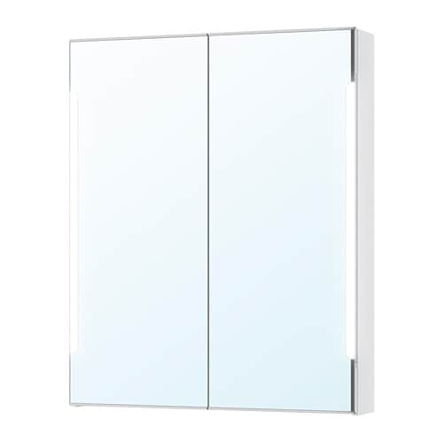 STORJORM Spiegelkast 2 deur/ingb verlichting - IKEA