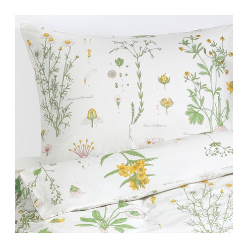 Ikea Strandkrypa Duvet Cover and Pillowcases, Twin, White ...