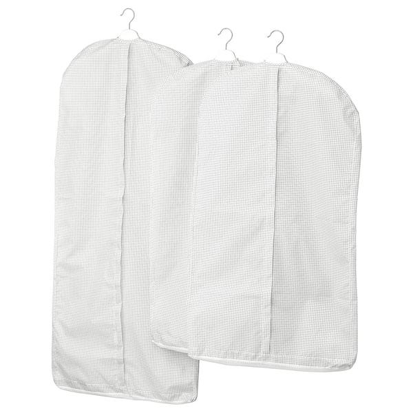 STUK kledinghoes set van 3 wit/grijs