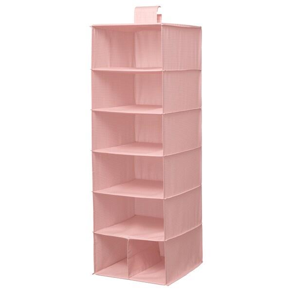 STUK opberger met 7 vakken roze 30 cm 30 cm 90 cm