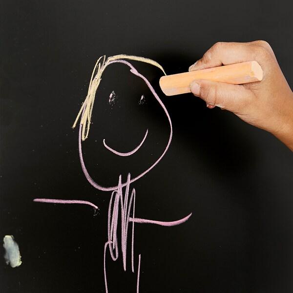STUVA / FRITIDS speelgoedkist met bank wit/krijtbordoppervlak 90 cm 50 cm 50 cm