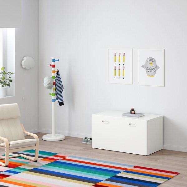 STUVA / FRITIDS Speelgoedkist met bank, wit/wit, 90x50x50 cm