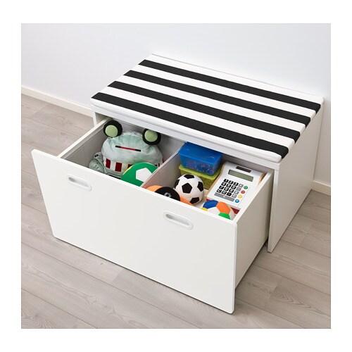 STUVA / FRITIDS Speelgoedkist met bank - wit/wit - IKEA