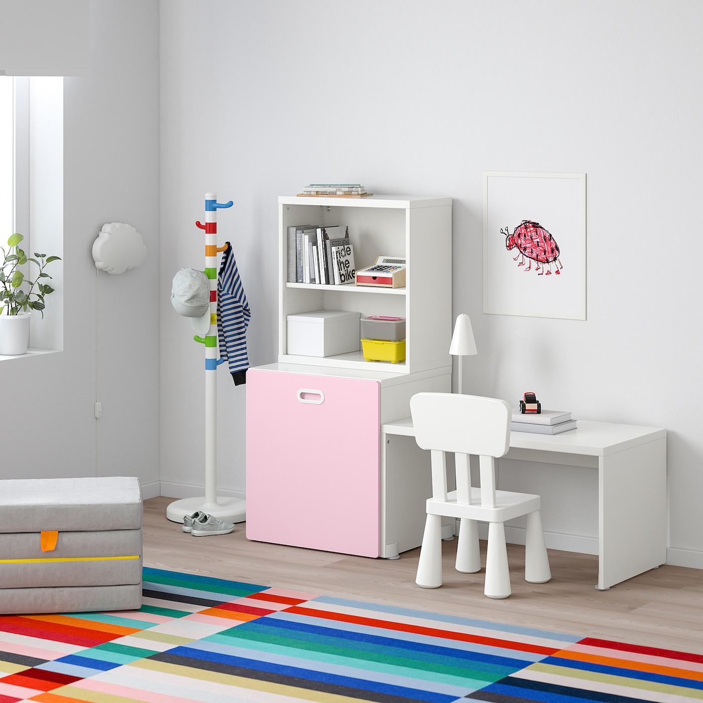 Ongekend STUVA / FRITIDS Tafel met speelgoedopberger, wit, lichtroze SG-96