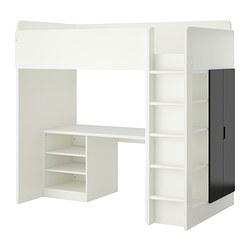 STUVA Hoogslapercombi met 2 planken, wit