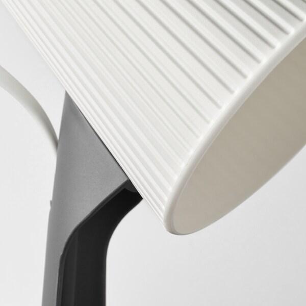 SVALLET Bureaulamp, donkergrijs/wit