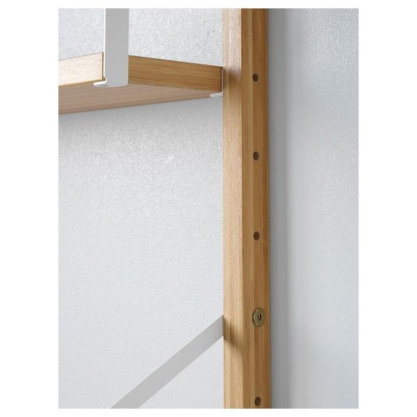 SVALNÄS Open wandkastcombinatie, bamboe, 86x25x176 cm