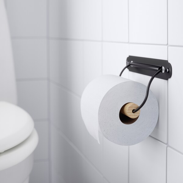 SVARTSJÖN Toiletpapierhouder, zwart
