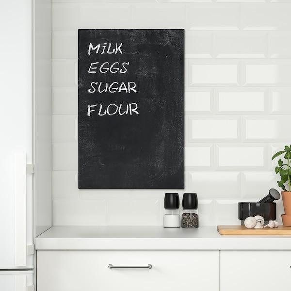 SVENSÅS Memobord, zwart, 40x60 cm
