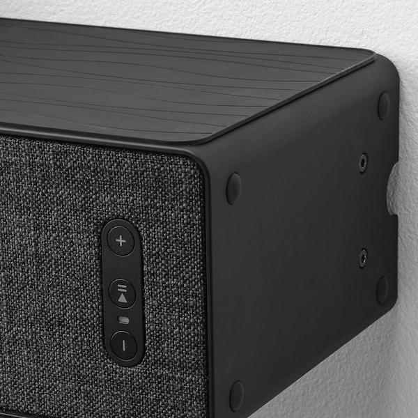 SYMFONISK Wandbevestiging boekenkast-speaker, zwart