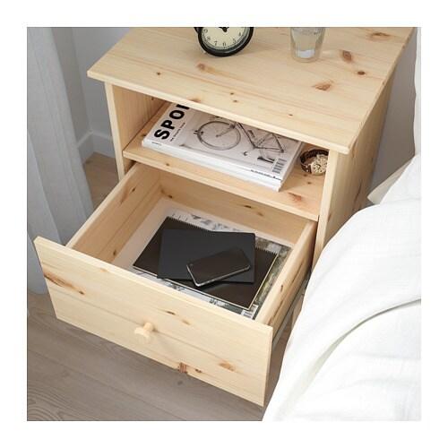 Massief Grenen Nachtkastje.Tarva Nachtkastje Ikea