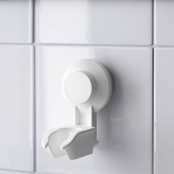 TISKEN Handdouchehouder met zuignap, wit