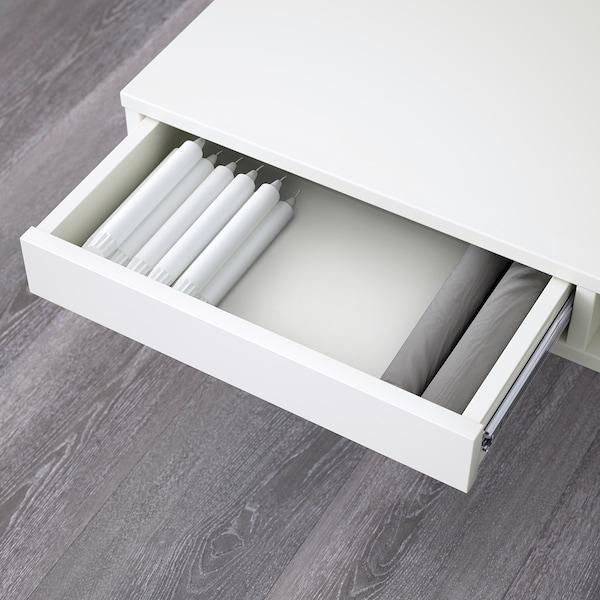 TOFTERYD Salontafel, hoogglans wit, 95x95 cm
