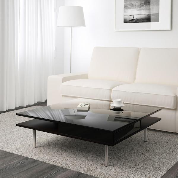 TOFTERYD Salontafel, hoogglans zwart, 95x95 cm