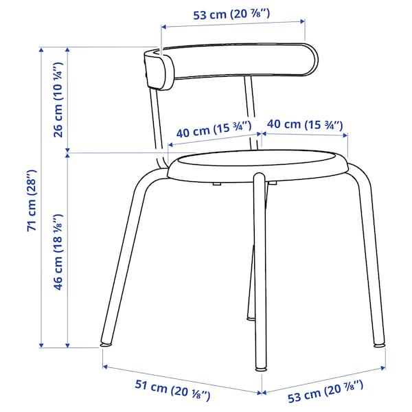 TOMMARYD / YNGVAR Tafel en 4 stoelen, antraciet/antraciet, 130x70 cm