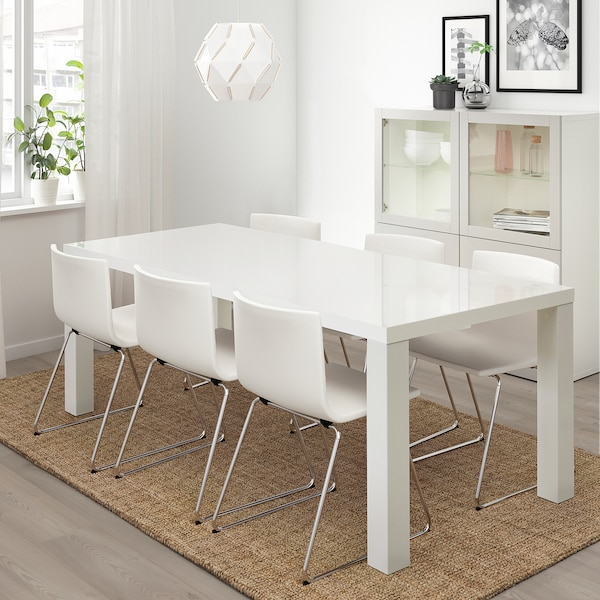 TORESUND Tafel, wit hoogglans, 180x90 cm