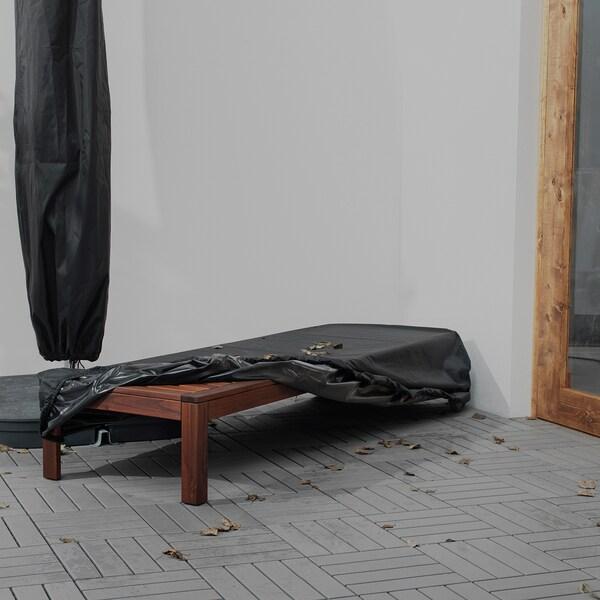 TOSTERÖ Hoes ligbed, zwart, 200x60 cm