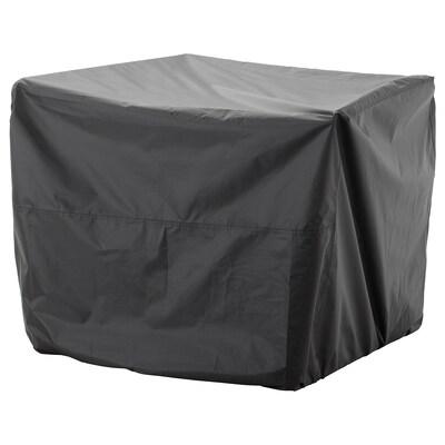 TOSTERÖ Hoes voor buitenmeubels, zitbank/zwart, 109x85 cm