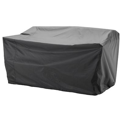 TOSTERÖ Hoes voor buitenmeubels, zitbank/zwart, 170x100 cm