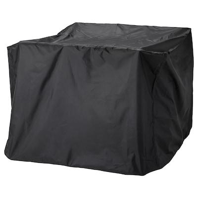 TOSTERÖ Hoes voor tuinset, eettafel en stoelen/zwart, 145x145 cm