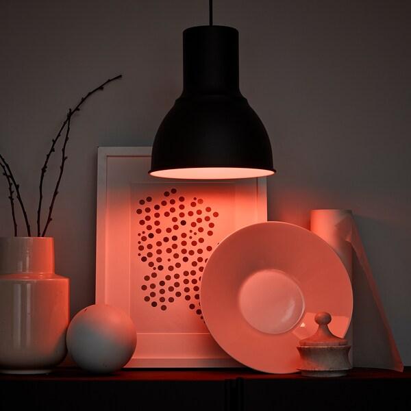 Tr 197 Dfri Led Lamp E27 600 Lumen Draadloos Dimbaar Kleur En Wit Spectrum Opaalwit Ikea