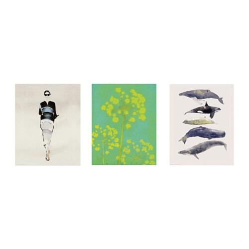 trilling poster set van 3 ikea. Black Bedroom Furniture Sets. Home Design Ideas