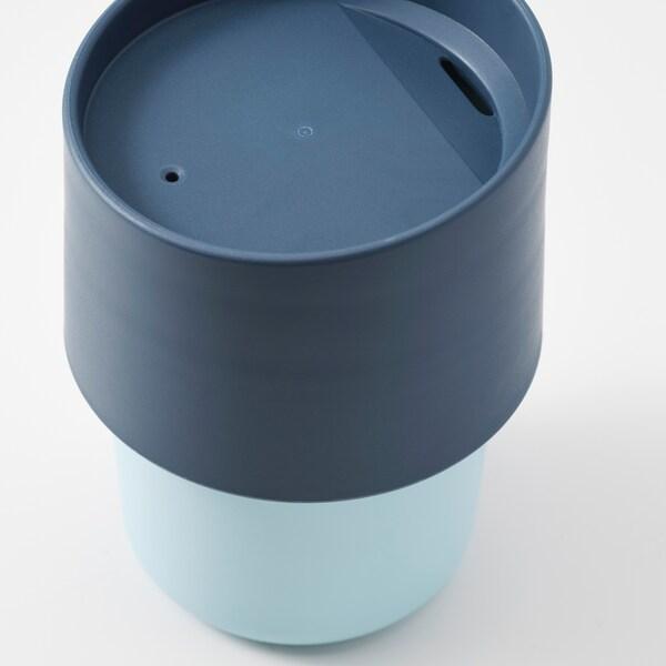 TROLIGTVIS Reisbeker, blauw, 0.3 l