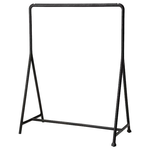 TURBO Kledingrek, binnen/buiten, zwart, 117x59 cm