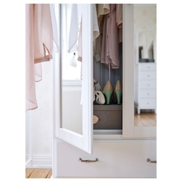 TYSSEDAL kledingkast wit/spiegelglas 88 cm 58 cm 208 cm