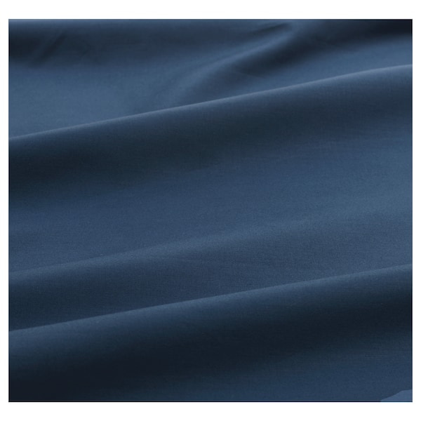 ULLVIDE Hoeslaken, donkerblauw, 140x200 cm
