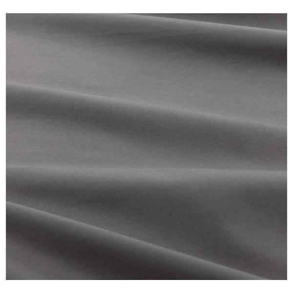 ULLVIDE Hoeslaken, grijs, 140x200 cm