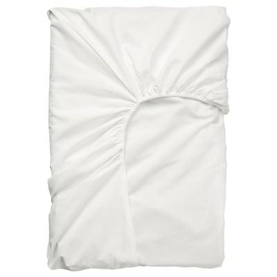 ULLVIDE Hoeslaken voor topmatras, wit, 180x200 cm