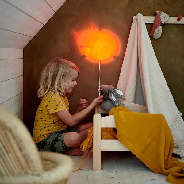 UPPLYST Led-wandlamp, vos oranje
