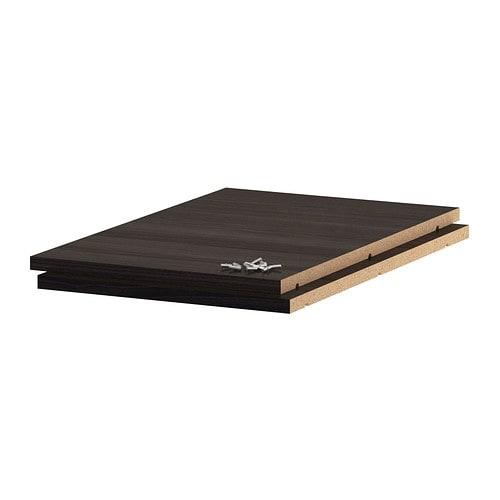 Utrusta plank   40x60 cm, houteffect zwart   ikea