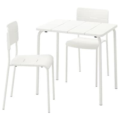 VÄDDÖ tafel+2 stoelen, buiten wit