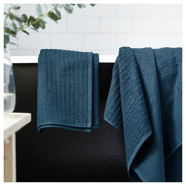 VÅGSJÖN badhanddoek donkerblauw 140 cm 70 cm 0.98 m² 400 g/m²