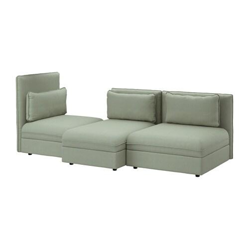 VALLENTUNA 3 zitsbank   Hillared groen   IKEA