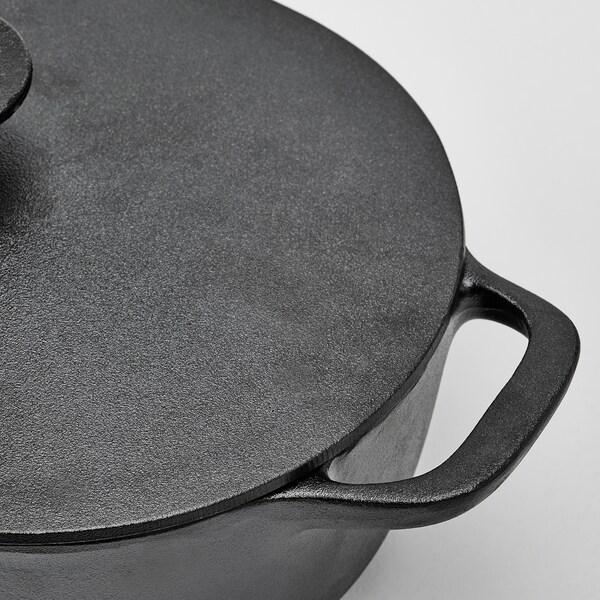 VARDAGEN braadpan met deksel gietijzer 42 cm 25 cm 12 cm 7 l