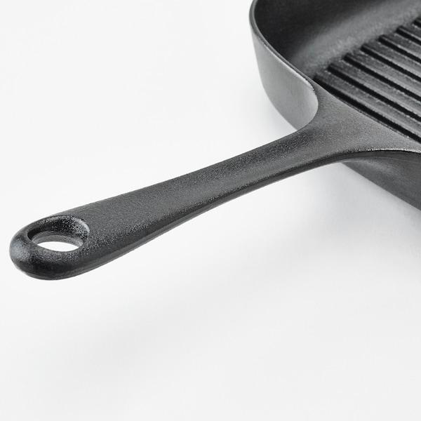 VARDAGEN Grillpan, gietijzer, 28x28 cm