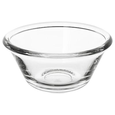 VARDAGEN Schaal, helder glas, 12 cm