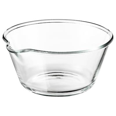 VARDAGEN Schaal, helder glas, 26 cm