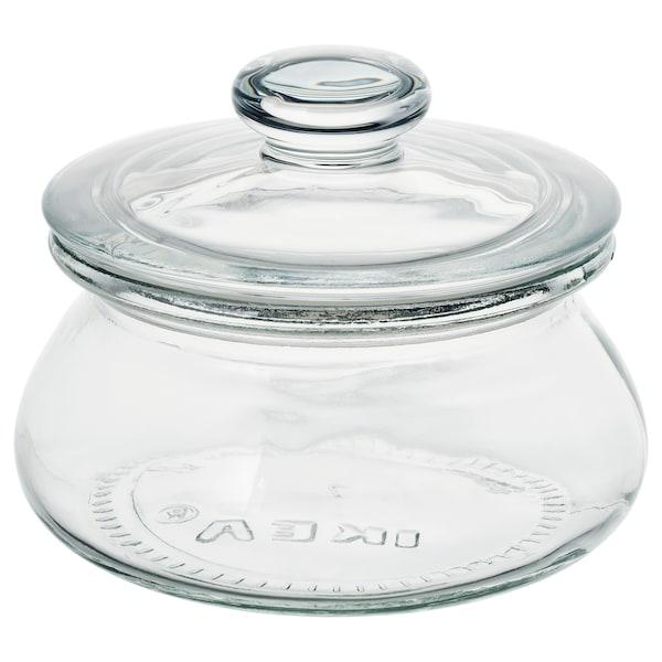 VARDAGEN Voorraadpot met deksel, helder glas, 0.3 l