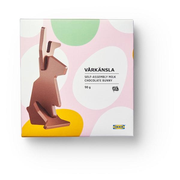 VÅRKÄNSLA Paashaas melkchocolade, zelf in elkaar zetten/UTZ-gecertificeerd, 90 g